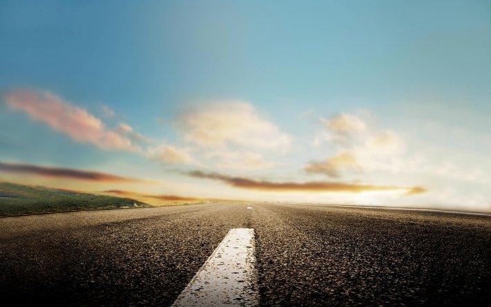 Empty roads - biking bliss!