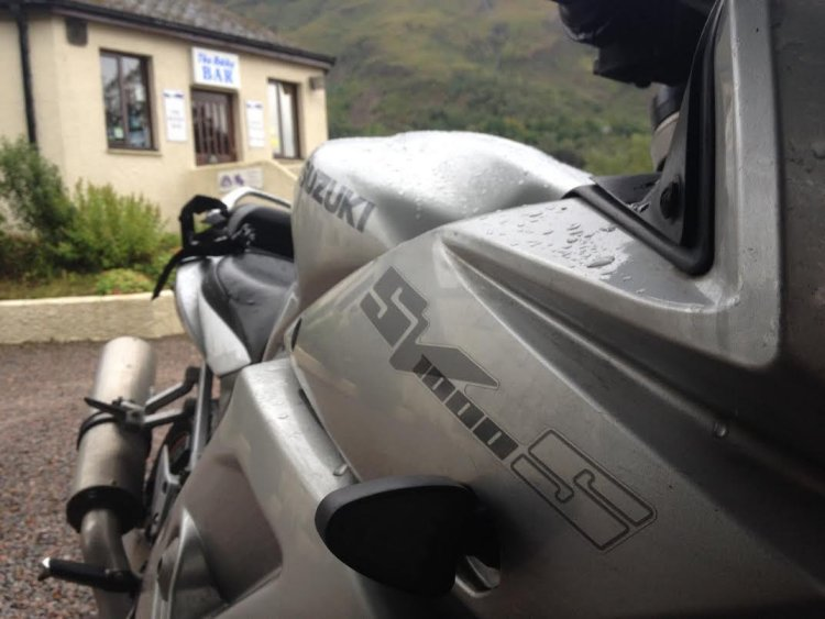 SV1000 at the Bothy Bar, Kinlochleven