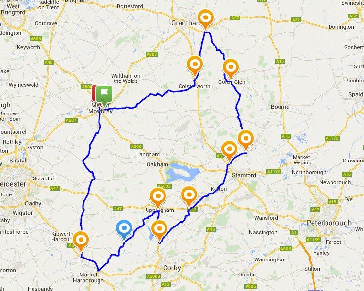 Rutland TT Route Map