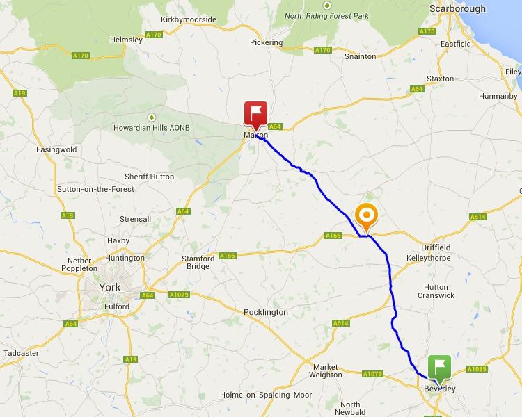 Beverley to Malton