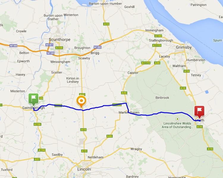 Gainsborough to Louth