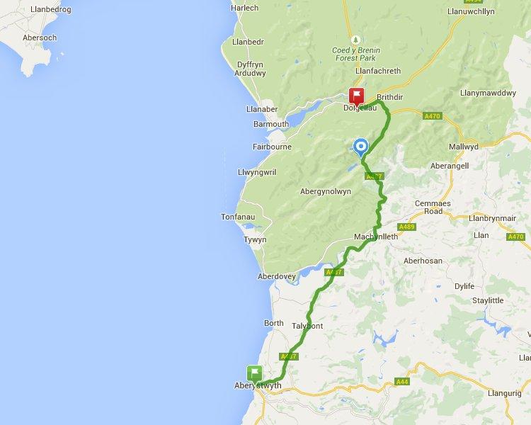 Aberystwyth to Dolgellau