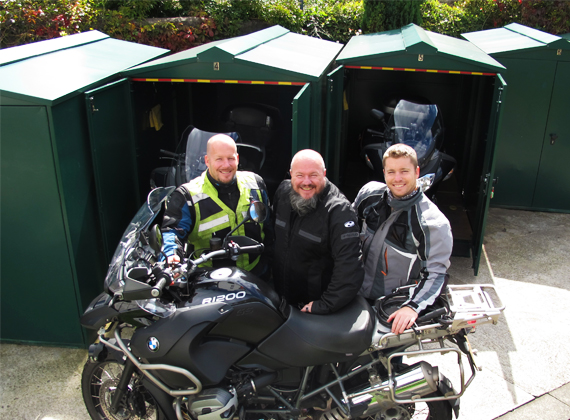 Clint, Dave and Polly - Owners and passionate Motorccyclists