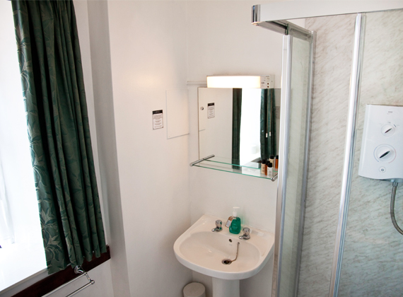 Standard Shower (Rooms with baths available)