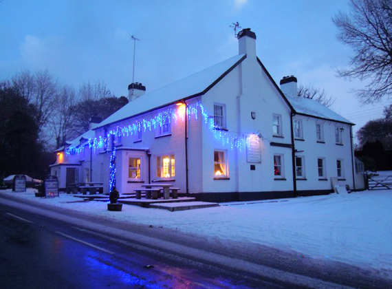 East Dart Hotel in Winter - a site you won't see on your bike