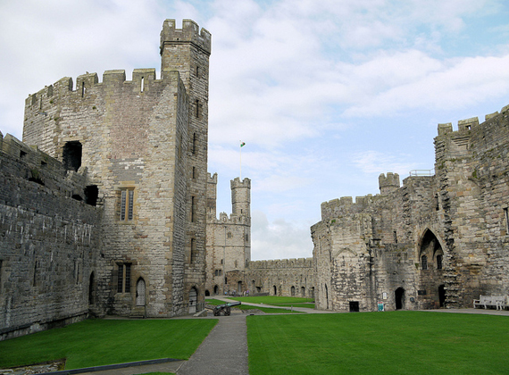 Views within Caernarfon Castle (Photo by Smabs Sputzer)