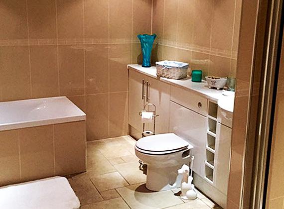 En-suite bath and shower