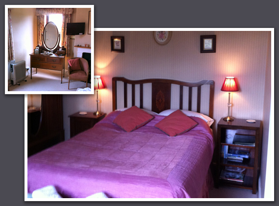 Farmhouse – A Victorian furnished double bedroom.