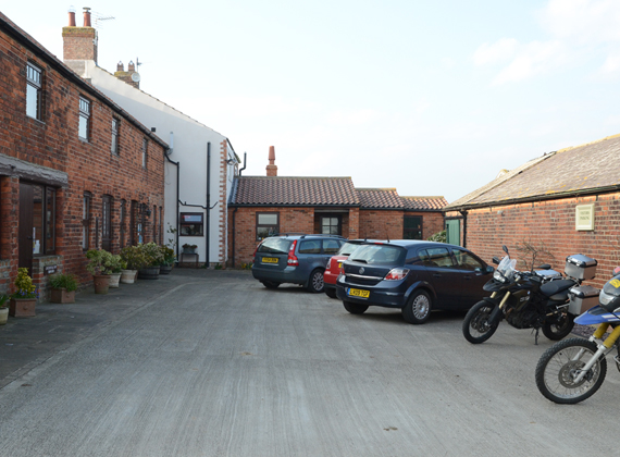 Ample off-street parking in the courtyard