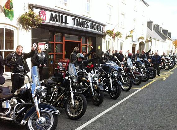 A biker's welcome!