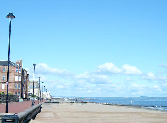 Nearby Portobello Beach