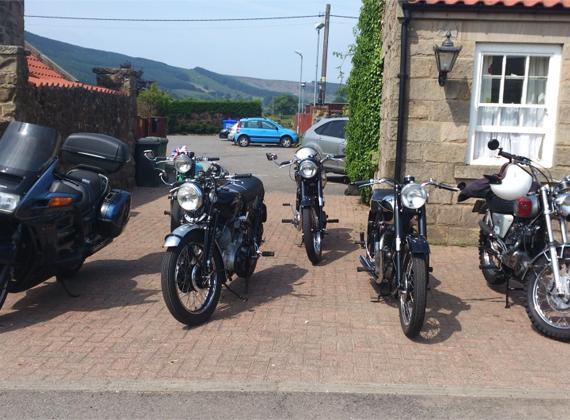 Classic bikes visiting