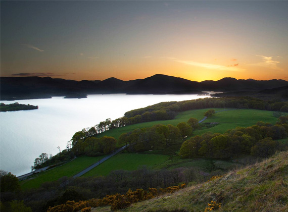 Sunset view of Loch Lomand