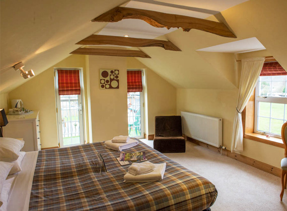 A double room inside the Cottery cottage