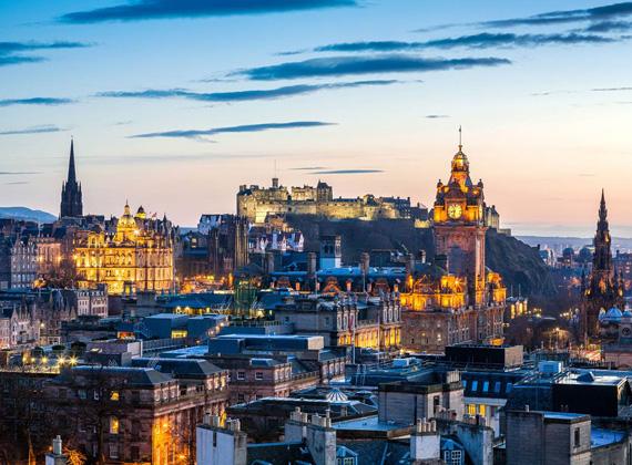 Edinburgh Skyline with Castle